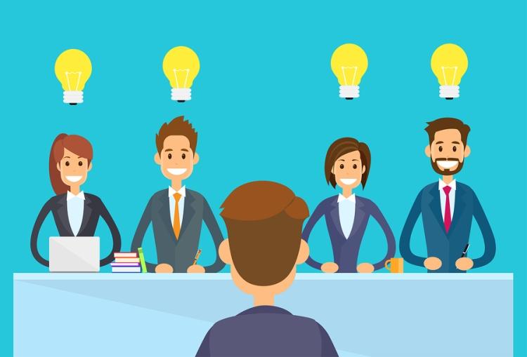 Business People Idea Concept Light Bulb Sitting Office Desk
